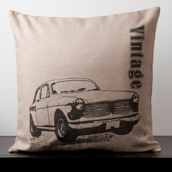 Lily Doe Skin Vintage Car Novelty 22-inch Decorative Down Pillow
