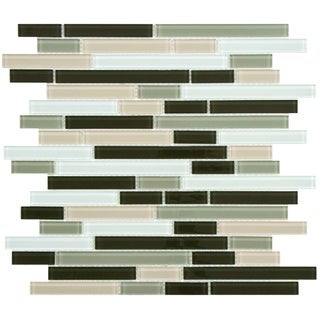 SomerTile 11.75-Inch View Chapparal Piano Glass Mosaic Tile (Pack of 17)
