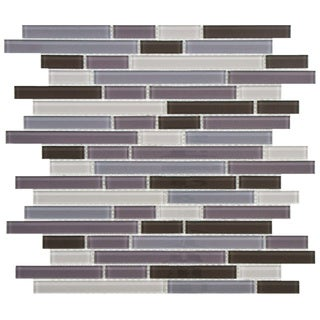 SomerTile 11.75-Inch View Reglia Piano Glass Mosaic Tile (Pack of 17)