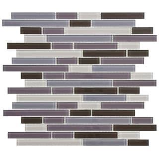 purple glass tile overstock shopping floor backsplash wall