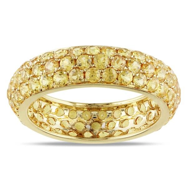 Miadora 14k Yellow Gold Yellow Sapphire Ring