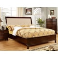 Lenheart Contemporary Fabric Nailhead Queen-size Bed