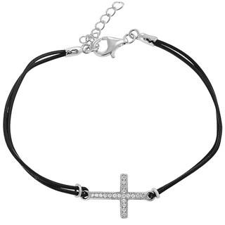 Tressa Collection Sterling Silver Cubic Zirconia Cross Bracelet
