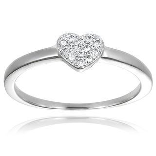 Tressa Collection Sterling Silver Cubic Zirconia Heart Ring