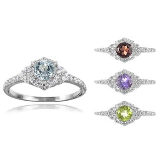 Tressa Collection Sterling Silver Gemstone Bridal-style Ring