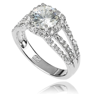 Tressa Collection Sterling Silver CZ Bridal-style Ring
