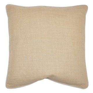 Villa Textured Linen Jutex Natural Decorative Throw Pillows (Set of 2)