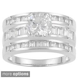 Icz Stonez Sterling Silver 6 1/2ct TGW Cubic Zirconia Bridal Ring Set