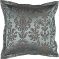 Maya Steel Blue Floral 18x18-inch Decorative Pillow