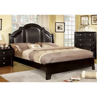 Furniture of America Jarden Crown Leatherette Queen Size Bed