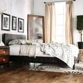 Furniture of America Milzy Queen Padded Leatherette Platform Bed