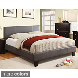 Milzy Queen Padded Leatherette Platform Bed