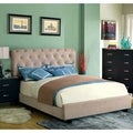 Furniture of America Yani Tufted Modern Velvet Queen Platform Bed