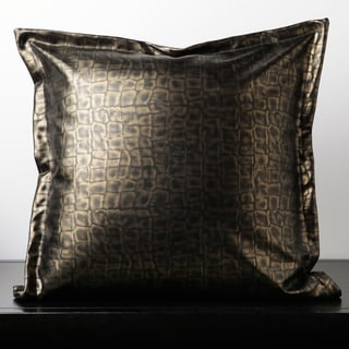 Cade Brown Leather 18-inch Decorative Down Pillow