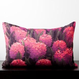 Aubrey Pink Hibiscus Flower 13 x 20 Decorative Down Pillow