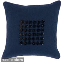 Kaylee Button Detail 18-inch Decorative Pillow