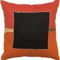Aaliyah Orange Velvet Accent 18-inch Decorative Pillow