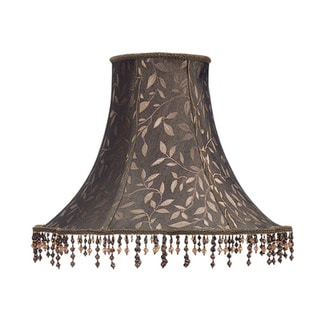 Cal Lighting Round Scalloped 17-inch Lamp Shade