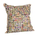 Saro Open Weave Jute Natural Decorative Throw Pillow
