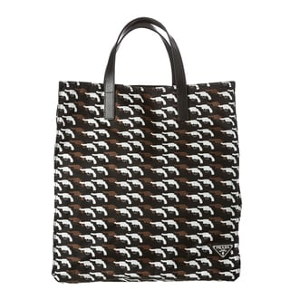 Prada Printed Nylon Tote Bag