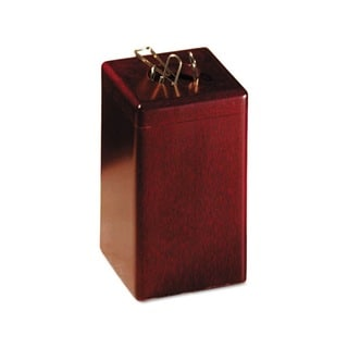Rolodex Mahogany Wood Tones Paper Clip Holder