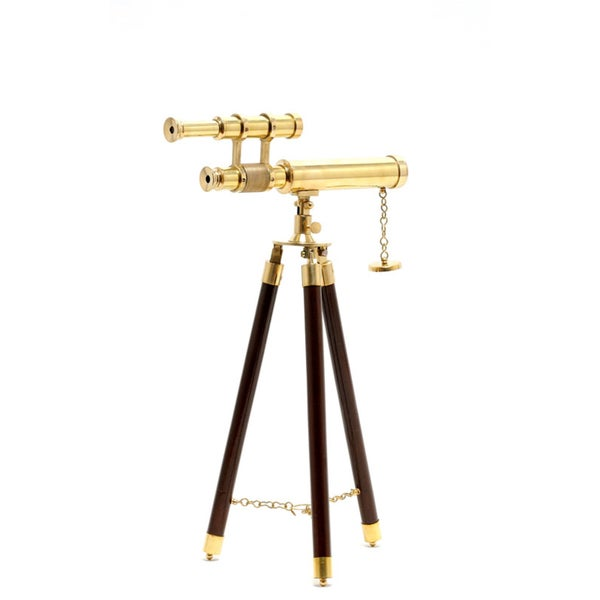 Old Modern Handicrafts Miniature Harbor Telescope with Stand