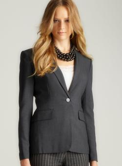 Calvin Klein Charcoal Single Button Jacket