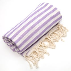 Authentic Pestemal Fouta Lilac Purple Turkish Cotton Bath/ Beach Towel