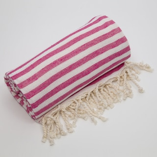 Authentic Pestamal Fouta Pink Turkish Cotton Beach Towel