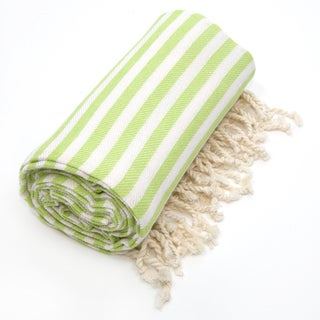 Authentic Pestemal Fouta Pistachio Green Turkish Cotton Beach Towel
