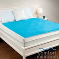 Comfort Memories Blue Bubble Queen-size Gel Mattress Pad