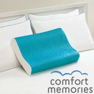 Comfort Memories Blue Bubble Memory Foam and Gel Contour Pillow