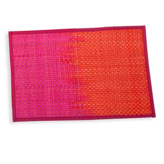 Set of 6 Hand-Woven Kottan Palm Leaf Placemats (India)