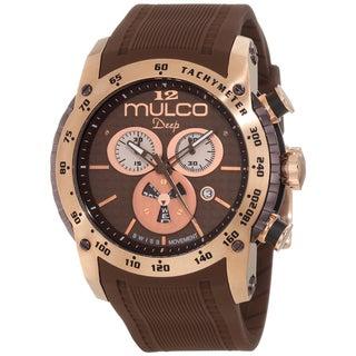 Mulco Unisex Swiss Quartz Chocolate Brown Steel Watch
