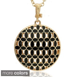 Riccova Color-plated Enamel Circle Necklace