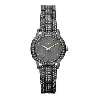 DKNY Women's Two-tone Stainless Steel Black Dial Quartz Watch