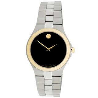 Movado Men's Black Dial Two-tone Stainless Steel Watch