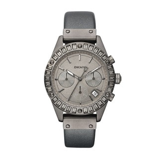 DKNY Women's Grey Calf Skin Grey Dial Quartz Watch