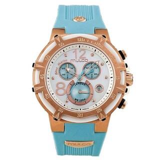 Mulco Unisex 'Bluemarine' Goldtone Stainless Steel Chronograph Watch