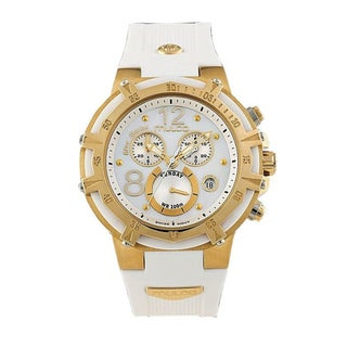 Mulco Unisex 'Bluemarine' White/ Goldtone Steel Watch