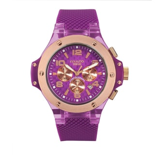 Mulco Unisex 'Titans Collection' Purple Chronograph Watch