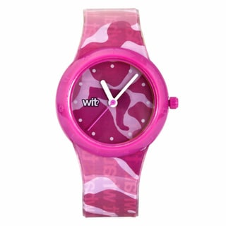 WIT? What Is That? Children's Pink Camouflage Italian Design Watch