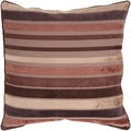 Taylor Brown Stripe 18-inch Decorative Pillow