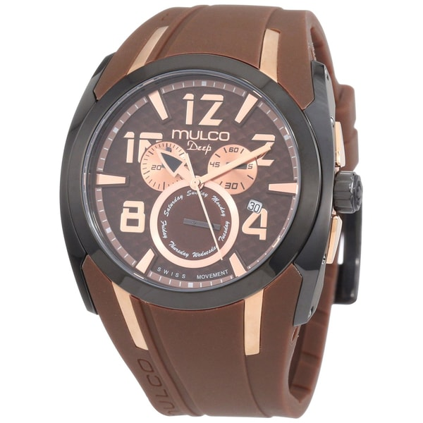 Mulco Unisex Swiss Quartz Brown/ Black Stainless Steel Watch