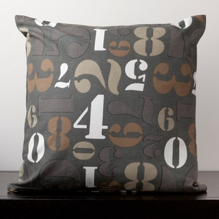 Avery Iron Ore Numbers Novelty 22-inch Decorative Down Pillow