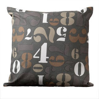 Avery Iron Ore Numbers Novelty 18-inch Decorative Pillow