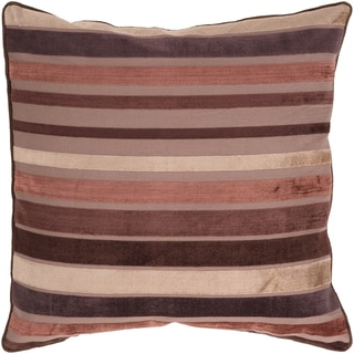 Taylor Brown Stripe 18-inch Decorative Down Pillow