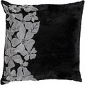Peyton Black Floral 18-inch Decorative Down Pillow