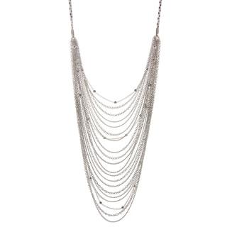 Alexa Starr Silvertone Multi-strand Swag Necklace