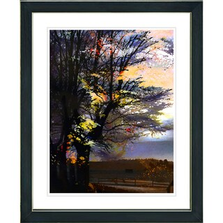 Studio Works Modern 'Evening Foliage' Framed Print